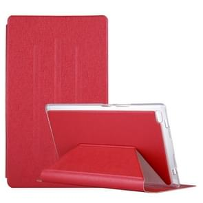 For Lenovo TAB4 TB-8504F 8 inch Silk Texture Horizontal Flip Leather Case with Holder (Red)