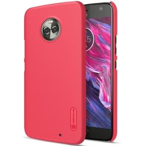 NILLKIN for Motorola Moto X4 Concave-convex Texture PC Protective Back Cover Case(Red)