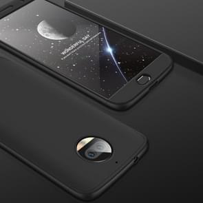 GKK voor Motorola Moto G5S PLus Three-paragraph 360 Degree Full Coverage PC beschermings hoesje Back Cover(zwart)