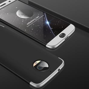 GKK voor Motorola Moto G5S PLus Three-paragraph 360 Degree Full Coverage PC beschermings hoesje Back Cover (Zwart+zilver)