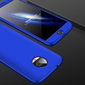 GKK voor Motorola Moto G5S PLus Three-paragraph 360 Degree Full Coverage PC beschermings hoesje Back Cover(blauw)