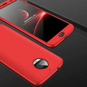 GKK voor Motorola Moto G5S PLus Three-paragraph 360 Degree Full Coverage PC beschermings hoesje Back Cover(rood)