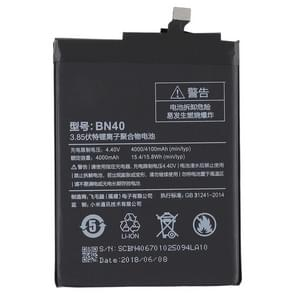 4000mAh Li-Polymer Battery BN40 for Xiaomi Redmi 4 Prime