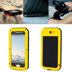 LOVE MEI for HTC One A9 Powerful Dustproof Shockproof Anti-slip Metal Protective Case(Yellow)