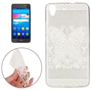 Huawei Y6 Butterfly and Flower Pattern TPU Protective Case