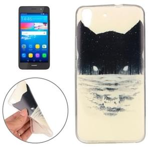 Huawei Y6 Abstract Wolf Head Pattern TPU Protective Case