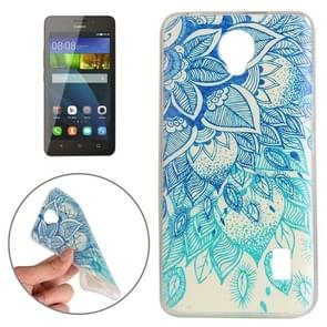 Huawei Y635 Blue Leaves Pattern TPU Protective Case