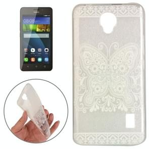 Huawei Y635 Butterfly and Flower Pattern TPU Protective Case