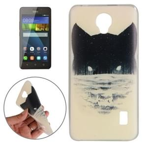 Huawei Y635 Abstract Wolf Head Pattern TPU Protective Case