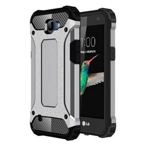 For LG K4 Tough Armor TPU + PC Combination Case(Grey)