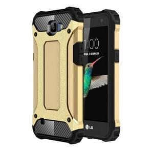 For LG K4 Tough Armor TPU + PC Combination Case(Gold)