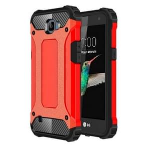 For LG K4 Tough Armor TPU + PC Combination Case(Red)