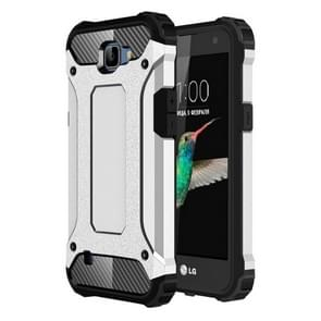 For LG K4 Tough Armor TPU + PC Combination Case(Silver)