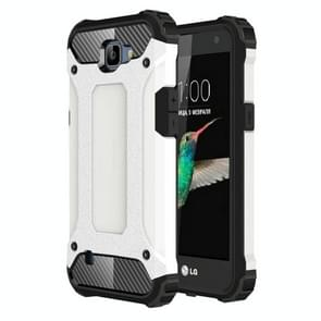 For LG K4 Tough Armor TPU + PC Combination Case(White)
