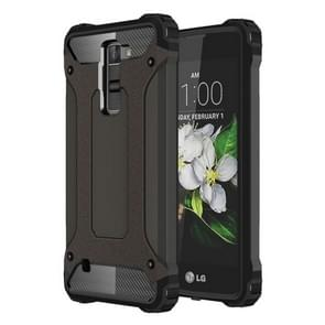 For LG K7 Tough Armor TPU + PC Combination Case(Coppery)