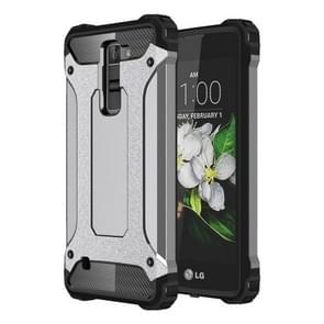 For LG K7 Tough Armor TPU + PC Combination Case(Grey)