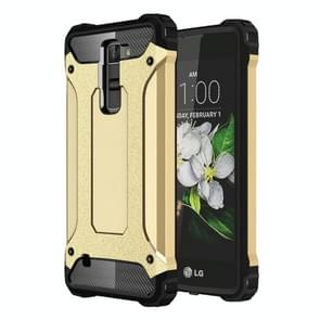 For LG K7 Tough Armor TPU + PC Combination Case(Gold)
