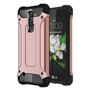 For LG K7 Tough Armor TPU + PC Combination Case(Rose Gold)