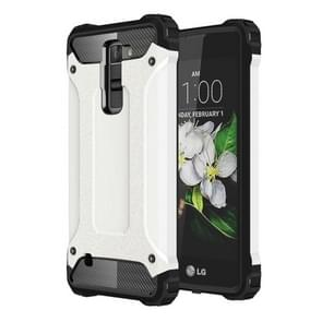 For LG K7 Tough Armor TPU + PC Combination Case(White)