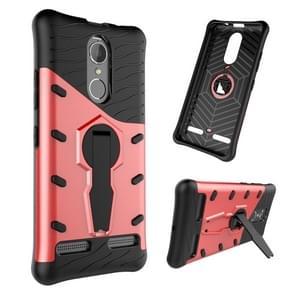 For Lenovo K6 / K6 Power Shock-Resistant 360 Degree Spin Sniper Hybrid Case TPU + PC Combination Case with Holder(Red)