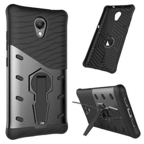 For Lenovo Vibe P2 Shock-Resistant 360 Degree Spin Sniper Hybrid Case TPU + PC Combination Case with Holder(Black)