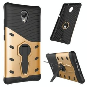 For Lenovo Vibe P2 Shock-Resistant 360 Degree Spin Sniper Hybrid Case TPU + PC Combination Case with Holder(Gold)
