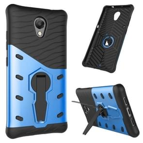 For Lenovo Vibe P2 Shock-Resistant 360 Degree Spin Sniper Hybrid Case TPU + PC Combination Case with Holder(Blue)