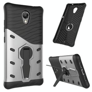 For Lenovo Vibe P2 Shock-Resistant 360 Degree Spin Sniper Hybrid Case TPU + PC Combination Case with Holder(Silver)