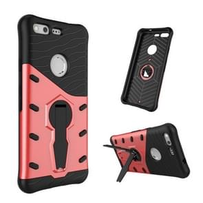 For Google Pixel Shock-Resistant 360 Degree Spin Tough Armor TPU+PC Combination Case with Holder (Red)