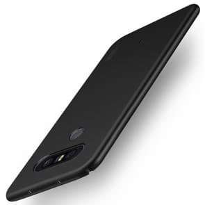 MOFI For LG Q8 Frosted PC Ultra-thin Edge Fully Wrapped Up Protective Case Back Cover (Black)