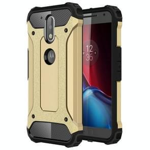 For Motorola Moto G (4rd gen) & G (4rd gen) Plus Tough Armor TPU + PC Combination Case(Gold)