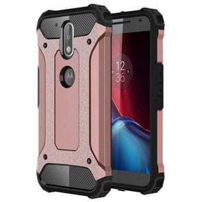 For Motorola Moto G (4rd gen) & G (4rd gen) Plus Tough Armor TPU + PC Combination Case(Rose Gold)