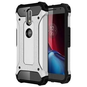 For Motorola Moto G (4rd gen) & G (4rd gen) Plus Tough Armor TPU + PC Combination Case(Silver)