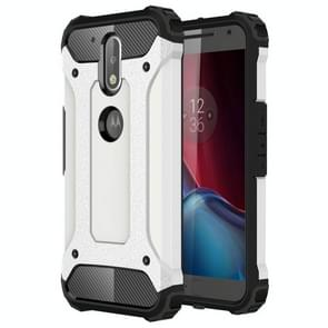 For Motorola Moto G (4rd gen) & G (4rd gen) Plus Tough Armor TPU + PC Combination Case(White)