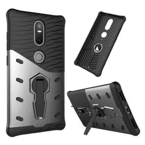 For Lenovo Phab2 Plus Shock-Resistant 360 Degree Spin Sniper Hybrid Case TPU + PC Combination Case with Holder(Black)