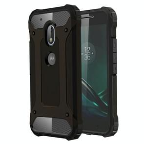 For Motorola Moto G4 Play Tough Armor TPU + PC Combination Case(Black)