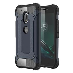 For Motorola Moto G4 Play Tough Armor TPU + PC Combination Case(Navy Blue)(Dark Blue)