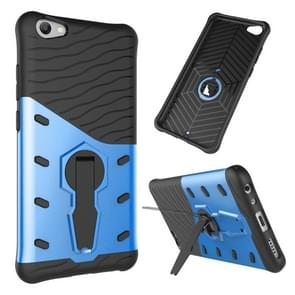 vivo V5 / Y67 Shock-Resistant 360 Degree Spin Sniper Hybrid Case TPU + PC Combination Case with Holder (Blue)