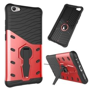 vivo V5 / Y67 Shock-Resistant 360 Degree Spin Sniper Hybrid Case TPU + PC Combination Case with Holder (Red)