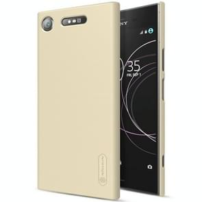 NILLKIN for Sony Xperia XZ1 Concave-convex Texture PC Protective Back Cover Case(Gold)