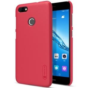 NILLKIN Frosted Shield for Huawei Enjoy 7 Concave-convex Texture PC Protective Case Back Cover(Red)
