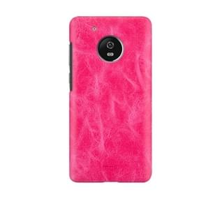 MOFI for Motorola Moto G Plus (5th Gen.) Crazy Horse Texture Leather Surface PC Protective Case Back Cover(Magenta)