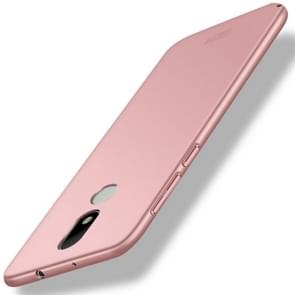 MOFI For Motorola Moto M PC Ultra-thin Edge Fully Wrapped Up Protective Case Back Cover (Rose Gold)