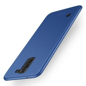 MOFI For LG K8 Frosted PC Ultra-thin Edge Fully Wrapped Up Protective Case Back Cover(Blue)