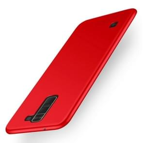 MOFI For LG K8 Frosted PC Ultra-thin Edge Fully Wrapped Up Protective Case Back Cover(Red)