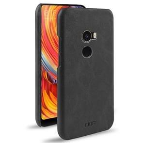 MOFI for  Xiaomi Mi Mix2 Crazy Horse Texture Leather Surface PC Protective Back Cover Case (Black)