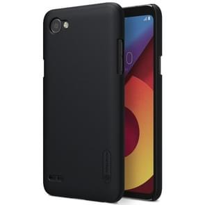 NILLKIN Frosted Shield for LG Q6 Concave-convex Texture PC Protective Case Back Cover (Black)