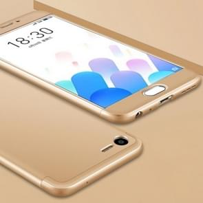 GKK Meizu Meilan E2 PC Three - paragraph Shield 360 Degrees Full Coverage Protective Case Back Cover(Gold)