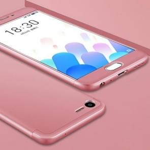 GKK Meizu Meilan E2 PC Three - paragraph Shield 360 Degrees Full Coverage Protective Case Back Cover(Rose Gold)
