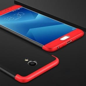 GKK Meizu M5 Note PC Three - paragraph Shield 360 Degrees Full Coverage Protective Case Back Cover (Black + Red)
